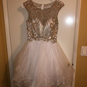 Bedazzled Illusion Dress